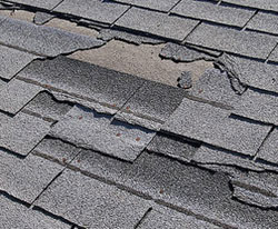 Roof Repair in Hartford CT - Damaged roofing shingles