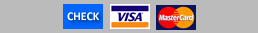 Payment types accepted: check, visa, mastercard